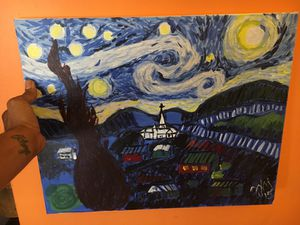 A stormy night painting (Vango re-creation) for Sale in Silver Spring, MD