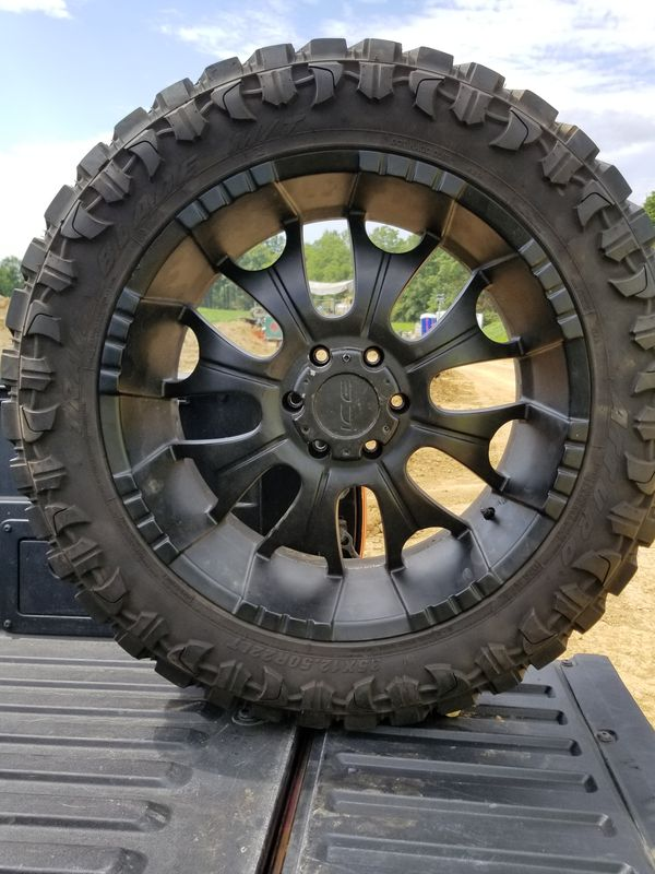 22 Inch Off Road Rims And Tires 35 Series 12 5 X 22 For Sale In Cleveland Oh Offerup