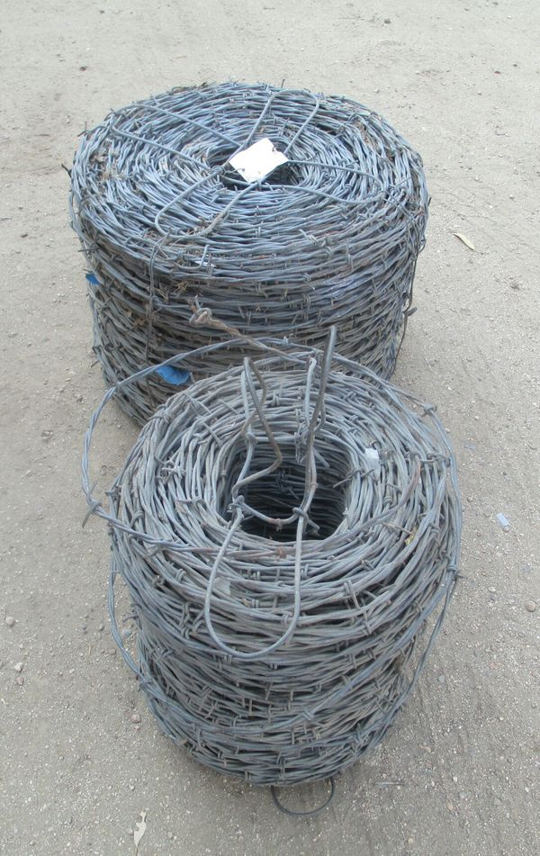 Huge Rolls of Vintage Barbed Wire Galvanized Barb Wire New for Sale ...