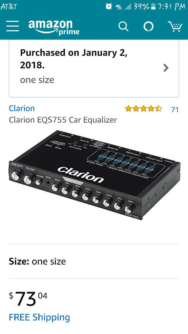 Clarion EQS755 for Sale in Modesto, CA - OfferUp