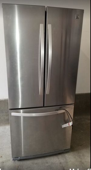 Photo Stainless steel kenmore refrigerator 3Doors w/ice maker works excellent good condition super cheap price!!!