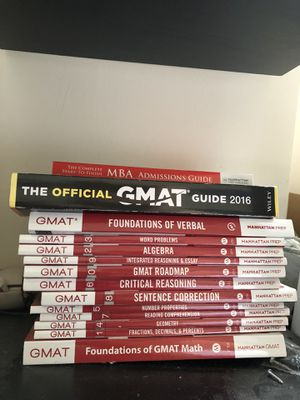 GMAT Manhattan Prep collection 2016 for Sale in New York, NY