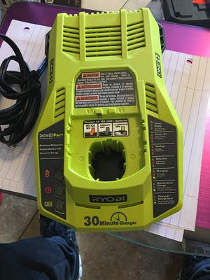 Photo Ryobi 18v Lithium Ion Battery Pack 30 Minute Fast Charger