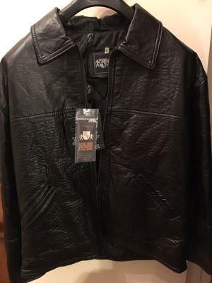 New leather jacket vintage 90s for Sale in Houston, TX