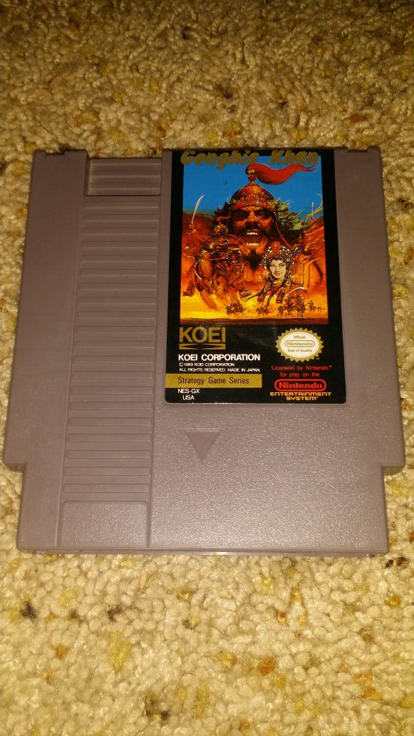 Genghis khan nes game for Sale in Weslaco, TX - OfferUp