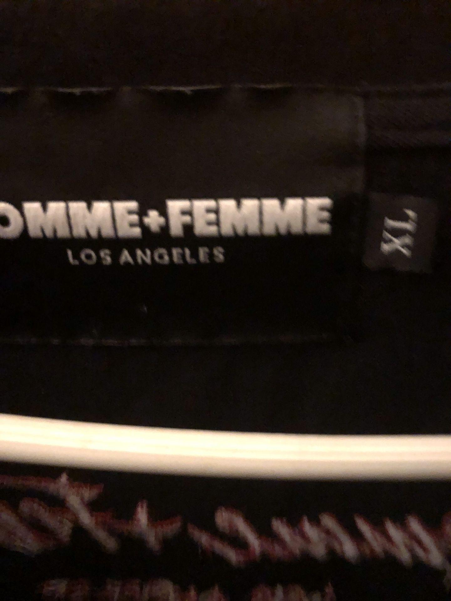 Homme Femme Love Hate Tee Black XL