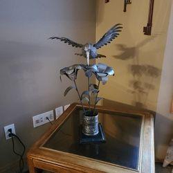 Scrap Metal Hummingbird Art Thumbnail