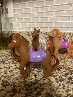 3 Mattel Ponies 1989 Mold  Thumbnail
