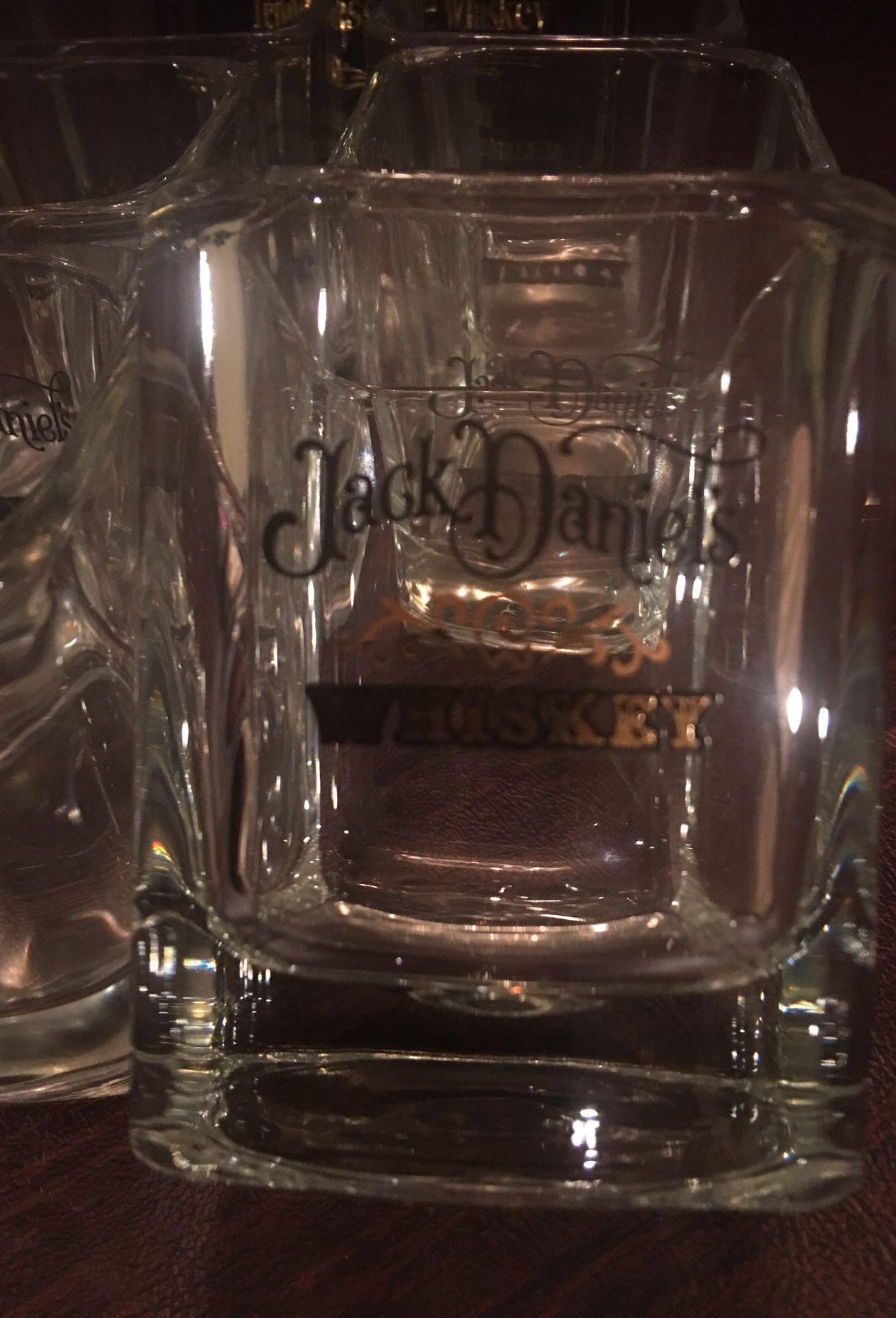 Jack Daniel's Whiskey Glasses Set of 6
