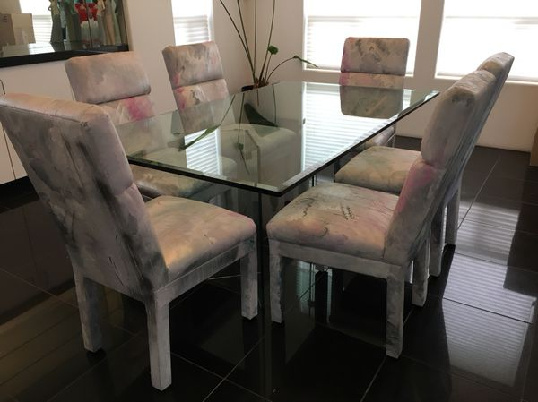 Glass Dining Table And Matching Buffet 400 OBO