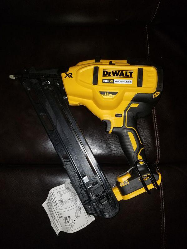 Brand new dewalt finish nail gun 20 volts brushless tool only (Tools ...