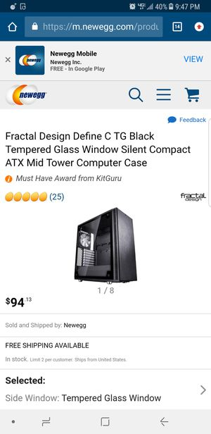 Fractal design computer case pc for Sale in Cleveland, OH