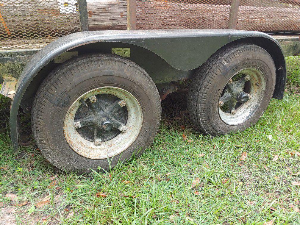 Heavy duty, Class 4, tandem axle trailer