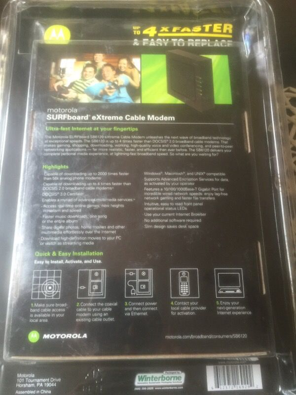 New and Used Motorola modem for Sale in Long Beach, CA - OfferUp