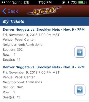 1 TICKET NUGGETS VS NETS TONIGHT!! for Sale in Denver, CO