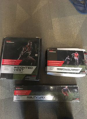 GNC weighted vest, agility ladder and resistance trainer for Sale in Salt Lake City, UT