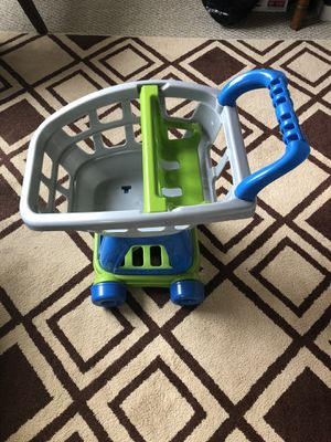 Photo Kids plastic shopping cart
