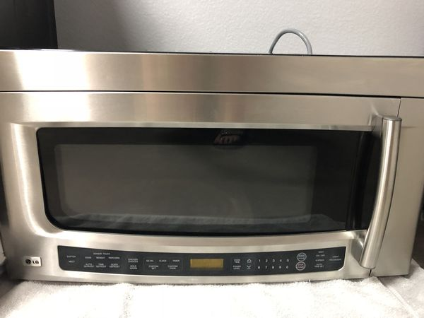 small over the range microwave. LG Over The Range Microwave Oven LMVM2075ST For Sale In Chandler, AZ - OfferUp Small T