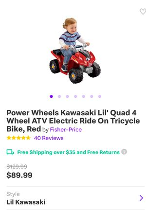 Power Wheels Kawasaki Lil' Quad 4 Wheel ATV Electric Ride On Tricycle Bike,  Red for Sale in Torrance, CA - OfferUp