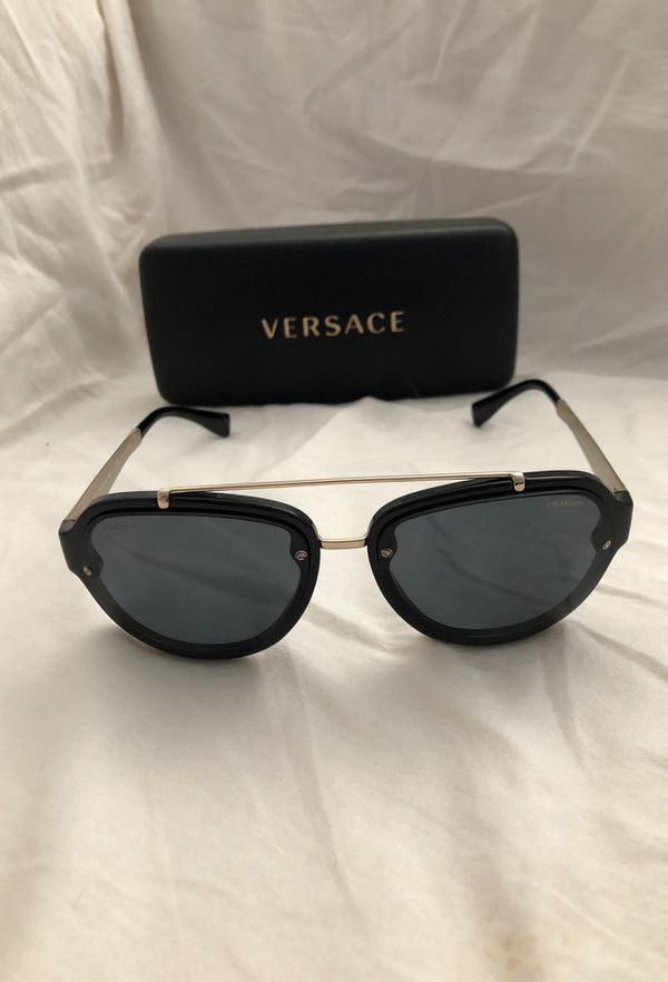 60f21f26642b Versace 4327 Sunglasses GB1 81 - Black - Polar Grey Men Black Aviator  (Jewelry   Accessories) in Fremont