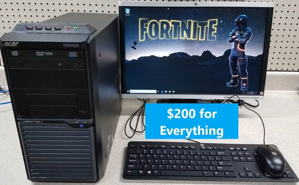 Acer Veriton Windows 10 Light Gaming Computer System Fotnite for Sale in  Layton, UT - OfferUp
