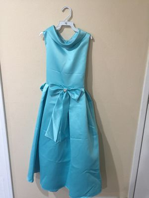 New Aqua Blue Flower Girls Party Dress Size 12 for Sale in Hacienda Heights, CA
