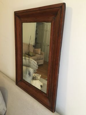 Antique vintage mirror with wood frame. 25x35 inched frame. Mirror area measures 15.5 x 25.5 inches for Sale in New York, NY