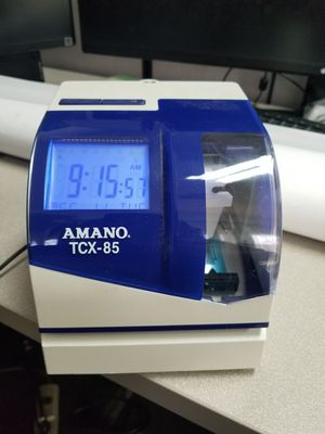 Amano TCX-85 electronic time card stamp machine for Sale in Huntington Beach, CA