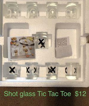 Photo Shot glass Tic Tac Toe game $12