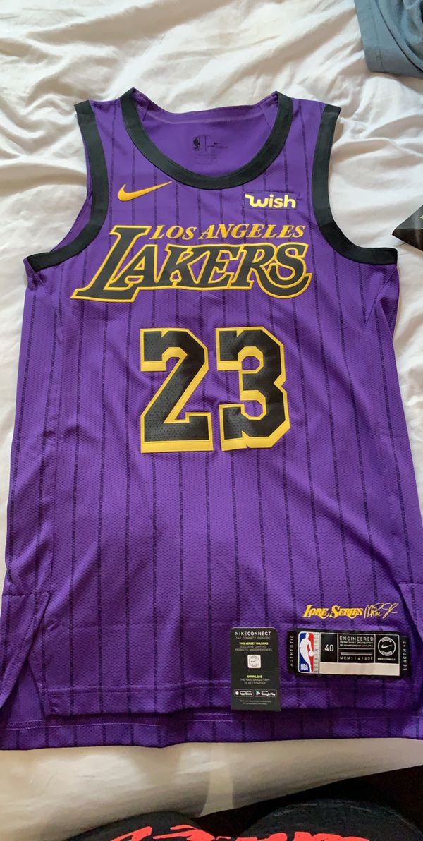 new product d0989 654cd LeBron James City Edition Lakers Authentic Jersey for Sale in CRYSTAL CITY,  CA - OfferUp