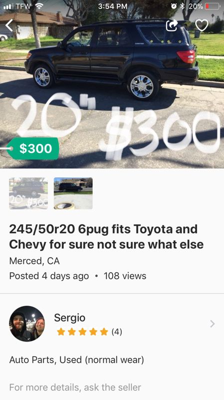 20s 6 Lug Chevy Toyota S Merced
