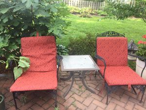 Iron furniture outdoor 3pic for Sale in Herndon, VA