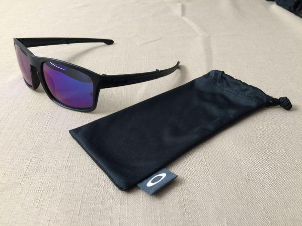 04d480b478 NEW OAKLEY SLIVER F FOLDABLE  9246-03 - Matte Black Frame Violet Iridium  Polarized Lens