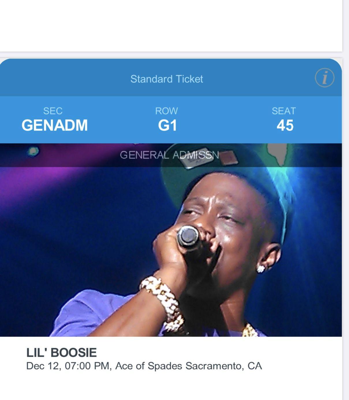 Lil Boosie tickets For sale