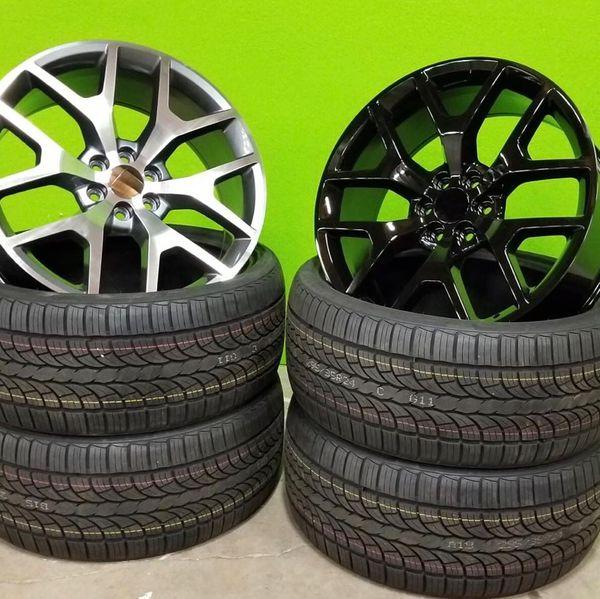 "ON SALE , New GMC Sierra 24"" 6x5.5 Wheels & Tires , Rines"