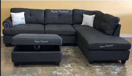 Sectional With Ottoman /// Financing Available Thumbnail