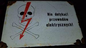 """Authentic Polish warning sign porcelain plated """"Nie dotykac! przewodow elektrycznych!"""" do not touch! electric wires! for Sale in Scottsdale, AZ"""