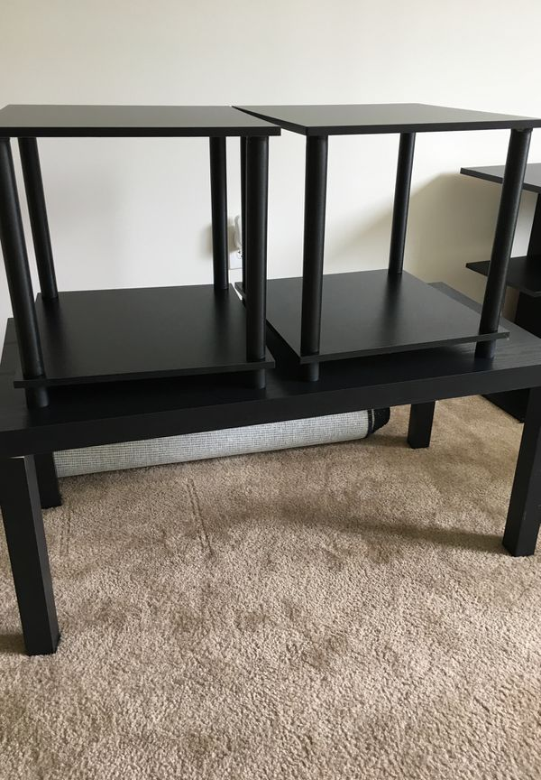 Entertainment center, coffee table, 2 end tables, rugs (Furniture ...