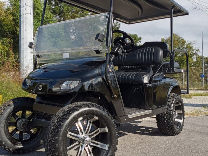 Photo BLACKED OUT !! , LIFTED GOLF CART , FREE DELIVERY !!