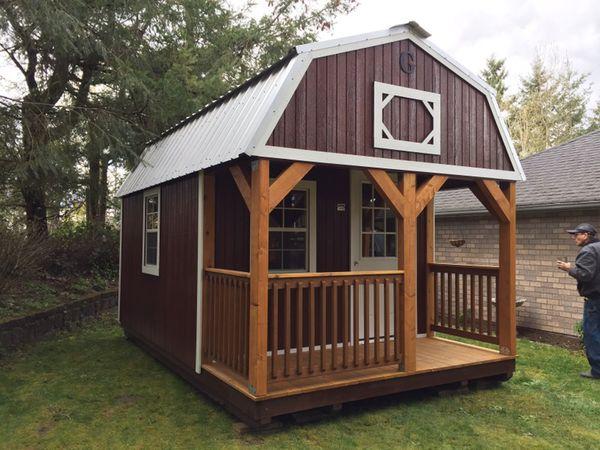 Graceland Portable lofted barn cabin for Sale in Sumner, WA - OfferUp