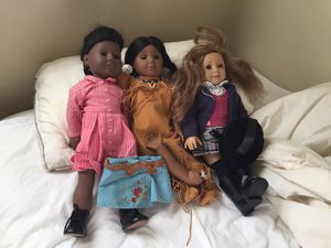 3 Used American girl dolls for Sale in Silver Spring, MD