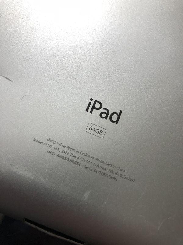 ipad model a1397 emc 2424