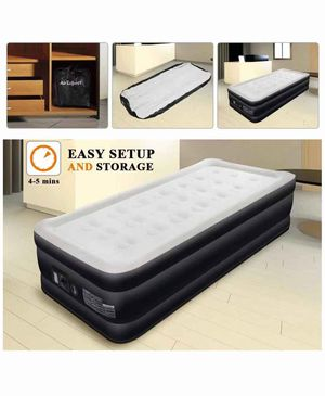 Air Mattress Twin Size Airbed - AirExpect Upgraded Inflatable Mattress Blow up Elevated Raised Guest Bed with Built-in Electric Pump, Quilt Top, Stor for Sale in Springfield, VA