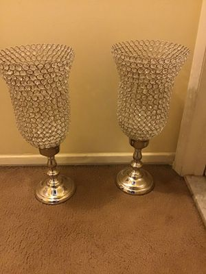 """2 new 27"""" tall crystal candle holder centerpiece message me if you interested pick up in Gaithersburg Maryland 20877 all sales final for Sale in Montgomery Village, MD"""