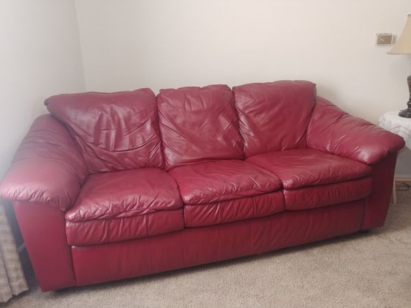 Burgundy Leather Couch & LoveSeat for Sale in Columbia, MO - OfferUp