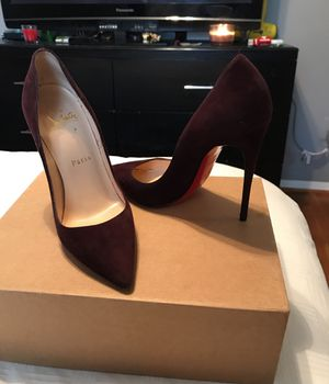 Brown suede red bottoms for Sale in West Springfield, VA