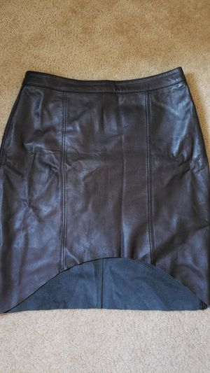 Trouve Black Real Soft Leather Assymetric Skirt | SIZE 6 for Sale in Alexandria, VA
