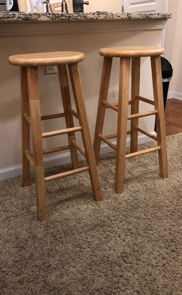 Two Wooden Bar Stools For Sale In Orlando Fl Offerup