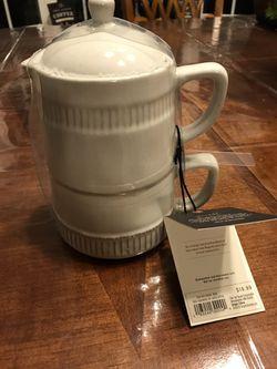 Brand new Hearth&Hand coffee mug double set Thumbnail