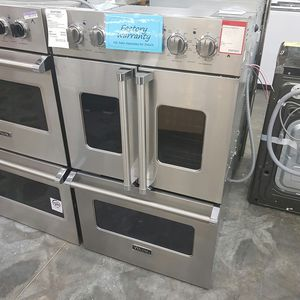 Photo NEW VIKING DOUBLE FRENCH DOOR WALL OVEN VDOF730SS